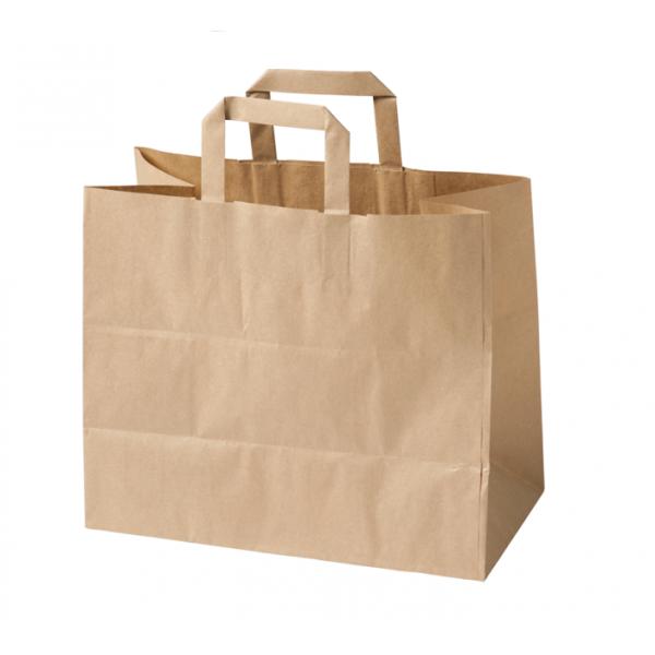 Τσάντα Κραφτ 32 x 20 x 23 Πλακέ χεράκι Χάρτινες Τσάντες