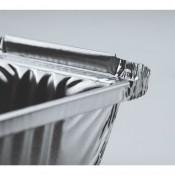 Ορθογώνια σκεύη αλουμινίου με καπάκι