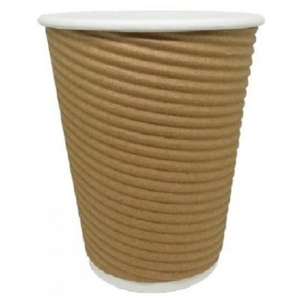 Ripple Kraft για ζεστά & κρύα ροφήματα. Διατίθεται και σε  8oz/14οz  Ποτήρια Χάρτινα Συσκευασιες Τροφιμων - thalassinos.com.gr