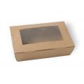 Κουτί Κραφτ Σαλάτας - Παράθυρο 21*15.5*6 Ν.4 1000ml Κουτιά Κραφτ Συσκευασιες Τροφιμων - thalassinos.com.gr